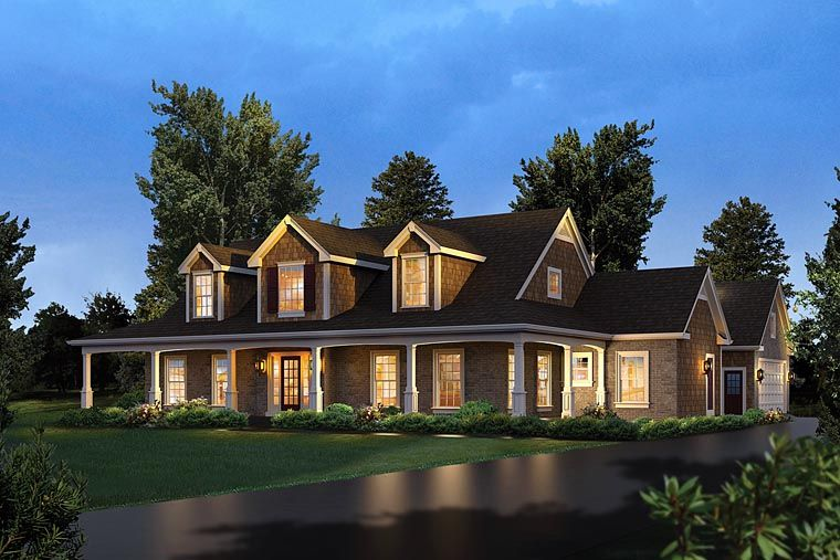 House Plan 95978   Country Southern Plan with 3782 Sq. Ft., 4 Bedrooms, 4 Bathrooms, 2 Car Garage
