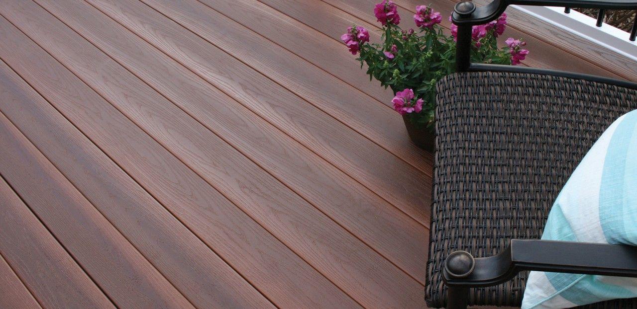 Fibercon outdoor flooring pvc decking in jatoba horizon for Vinyl decking material