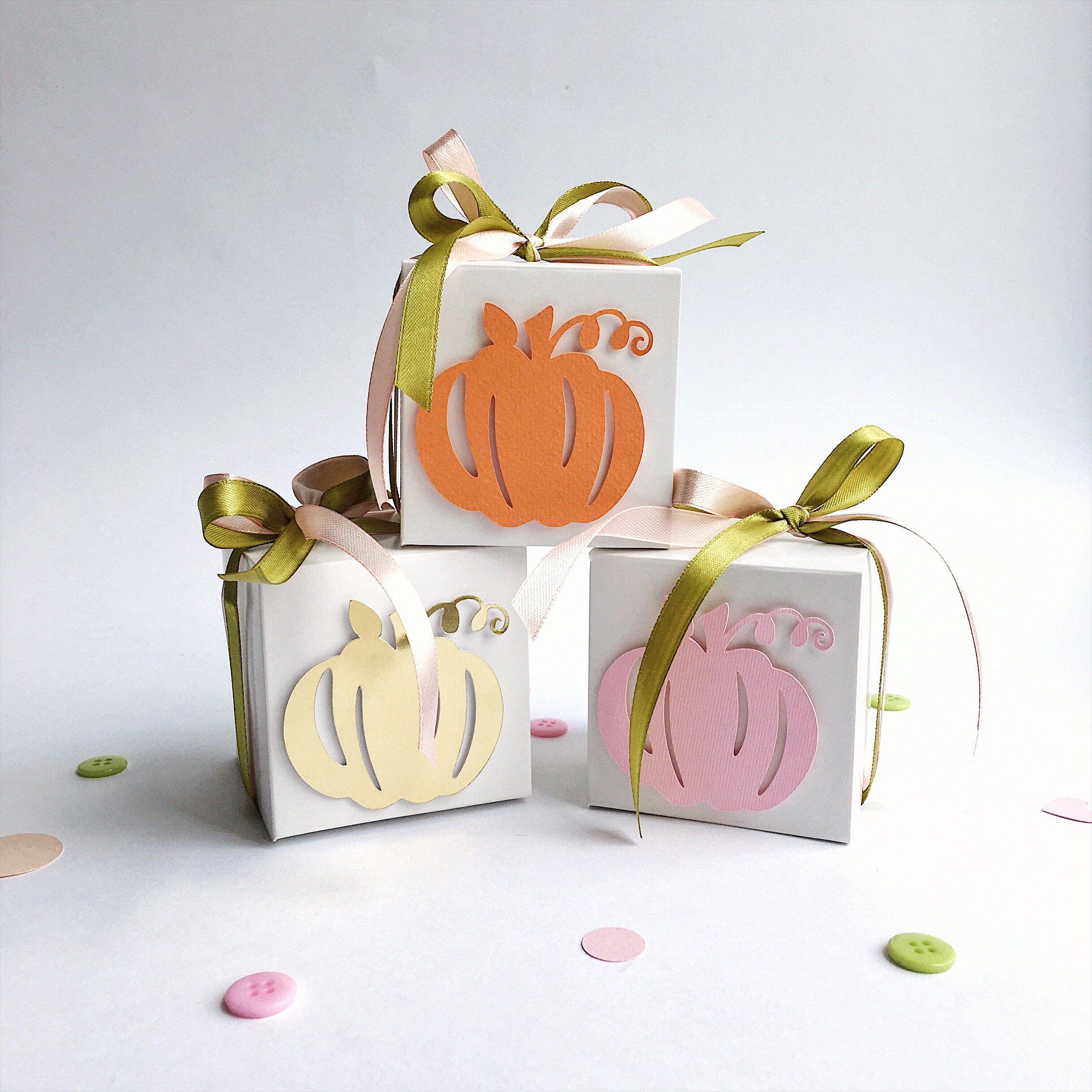 Pumpkin Favor Boxes Pumpkin Girl Baby Shower Gift Boxes