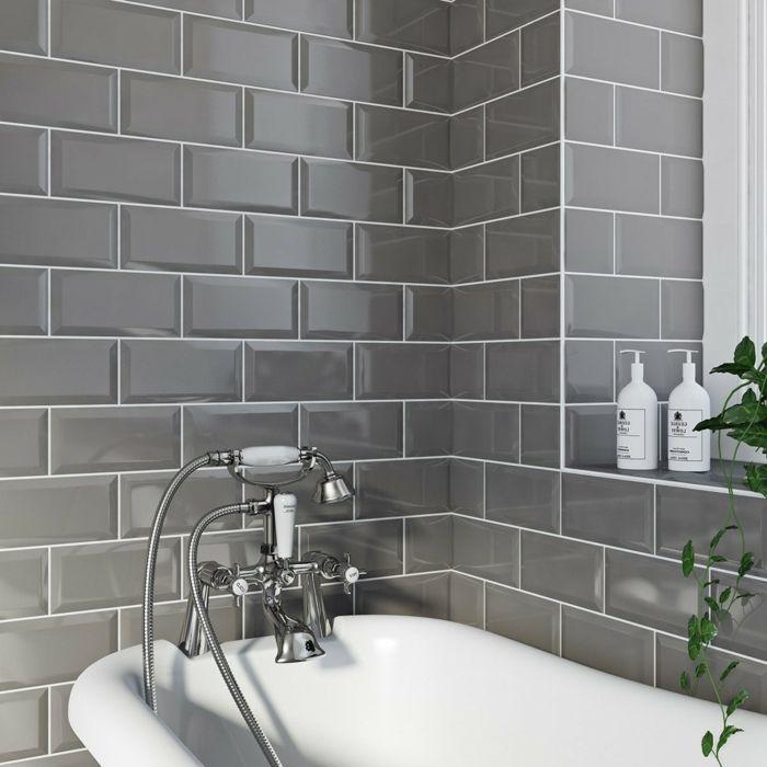 1001 + ideas de decoración de baño gris y blanco ...