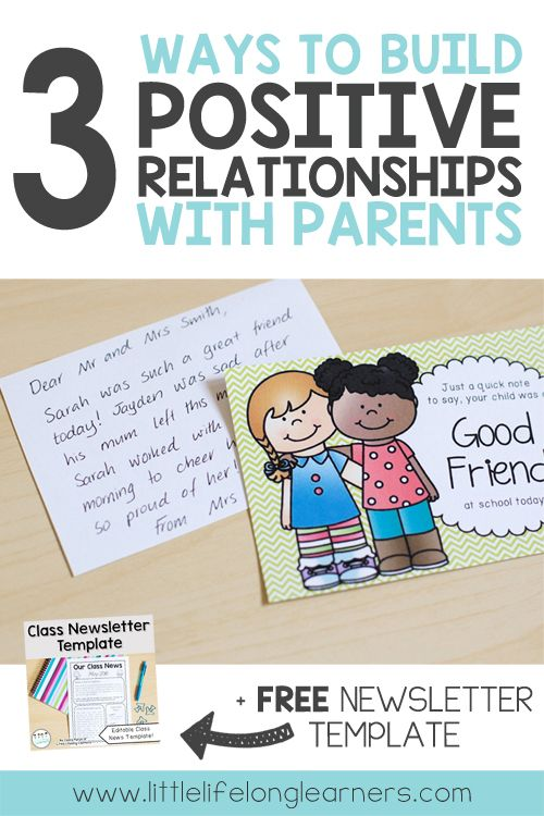 3 Ways to Build Positive Relationships with Parents Class