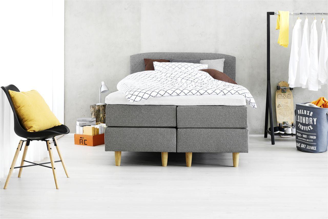 boxspring 140x200 eastborn jysk slaapkamer jysk. Black Bedroom Furniture Sets. Home Design Ideas