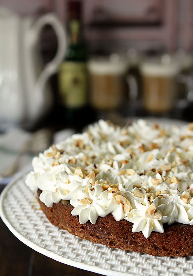 This Irish Coffee Cake is not to be confused with a breakfast coffeecake. It's even better; a dessert with Irish Coffee in it...including the whiskey!