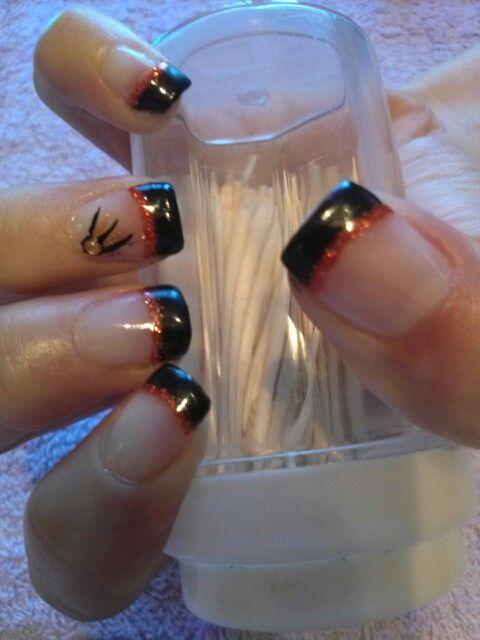Classy Halloween Nails | Halloween nail designs, Sns nails ...
