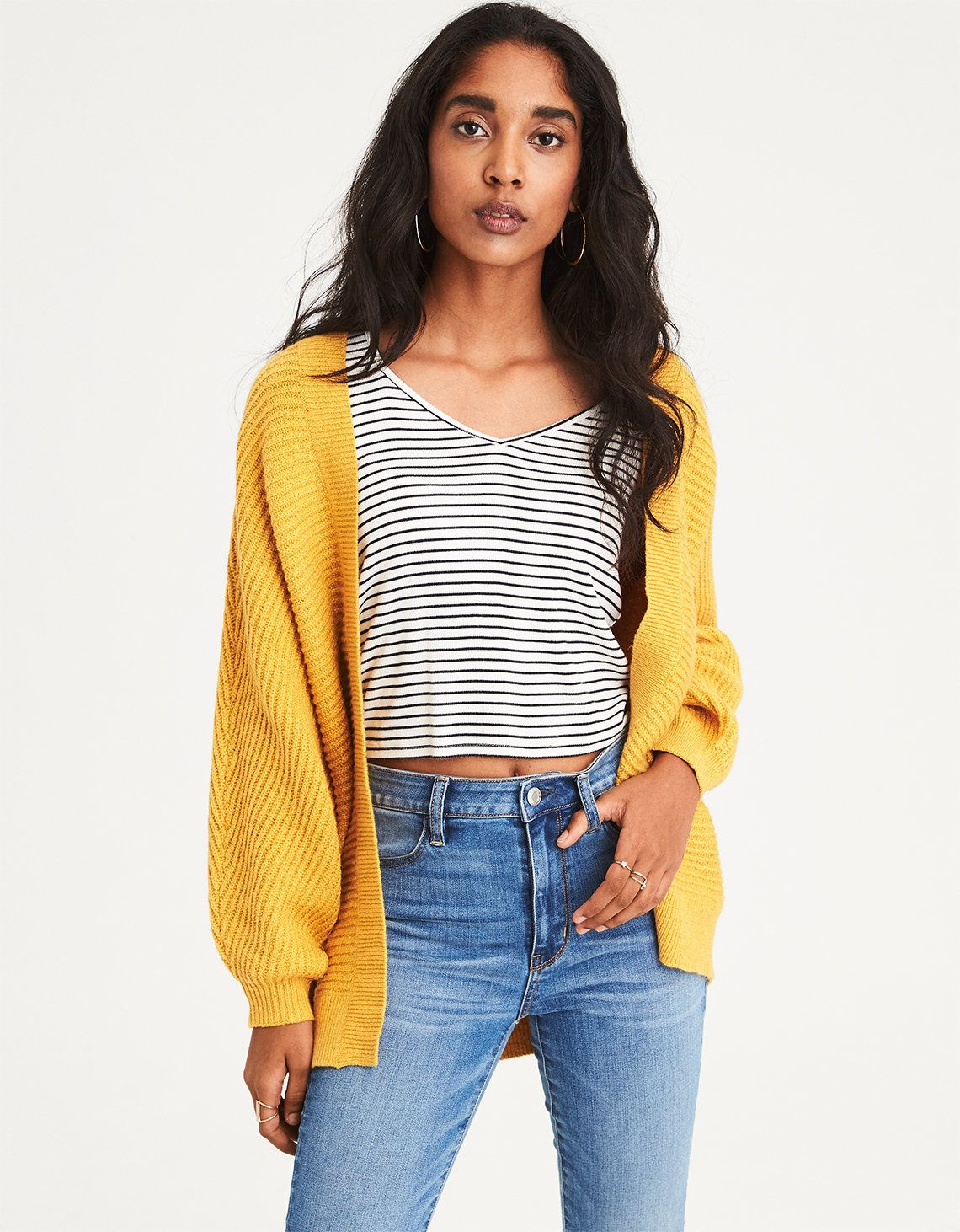 ff5fd52038f92 mustard oversized cardigan | Personal Style | Cardigans for women ...