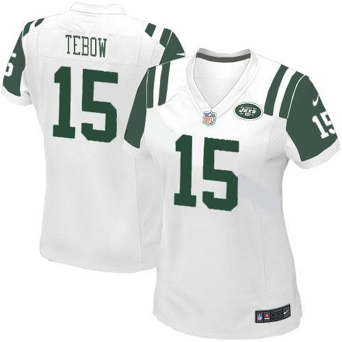 967b931a Women's Nike NFL New York Jets #15 Tim Tebow Limited White Jersey ...