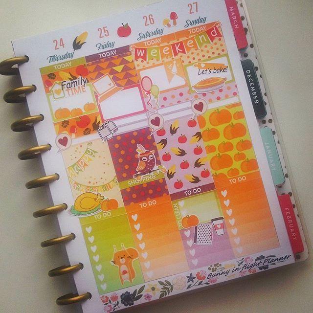 NOVEMBER THANKSGIVING Sticker Kit For Happy Planner Plan Planner