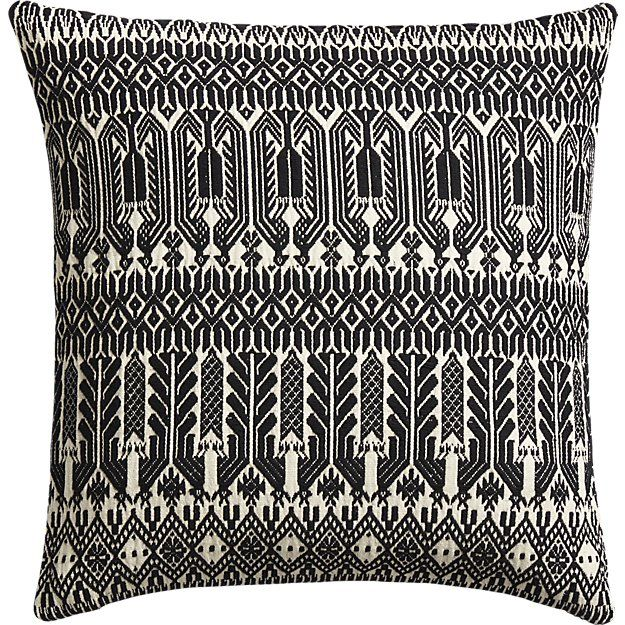 "Shop 18"" Izel Black and White Fair Isle Pillow. Traditional fair ..."