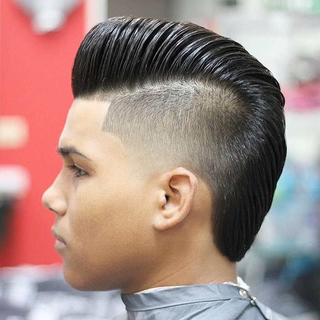 Haircut for men mohawk haircut  cortes de cabelo  pinterest  combover pompadour and