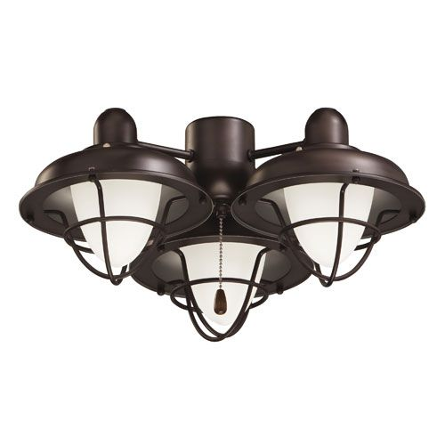 Ceiling Fan With Light Fixture: Emerson Fans Oil Rubbed Bronze Boardwalk Cage LED Ceiling
