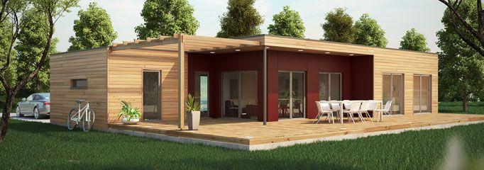 construction maison en bois prix 2 prefab houses pinterest casas y arquitectura. Black Bedroom Furniture Sets. Home Design Ideas