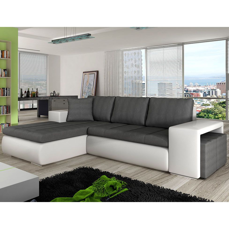 Corner Sofa Bed ATLANTIS, Storage Container, Sleep Function ...