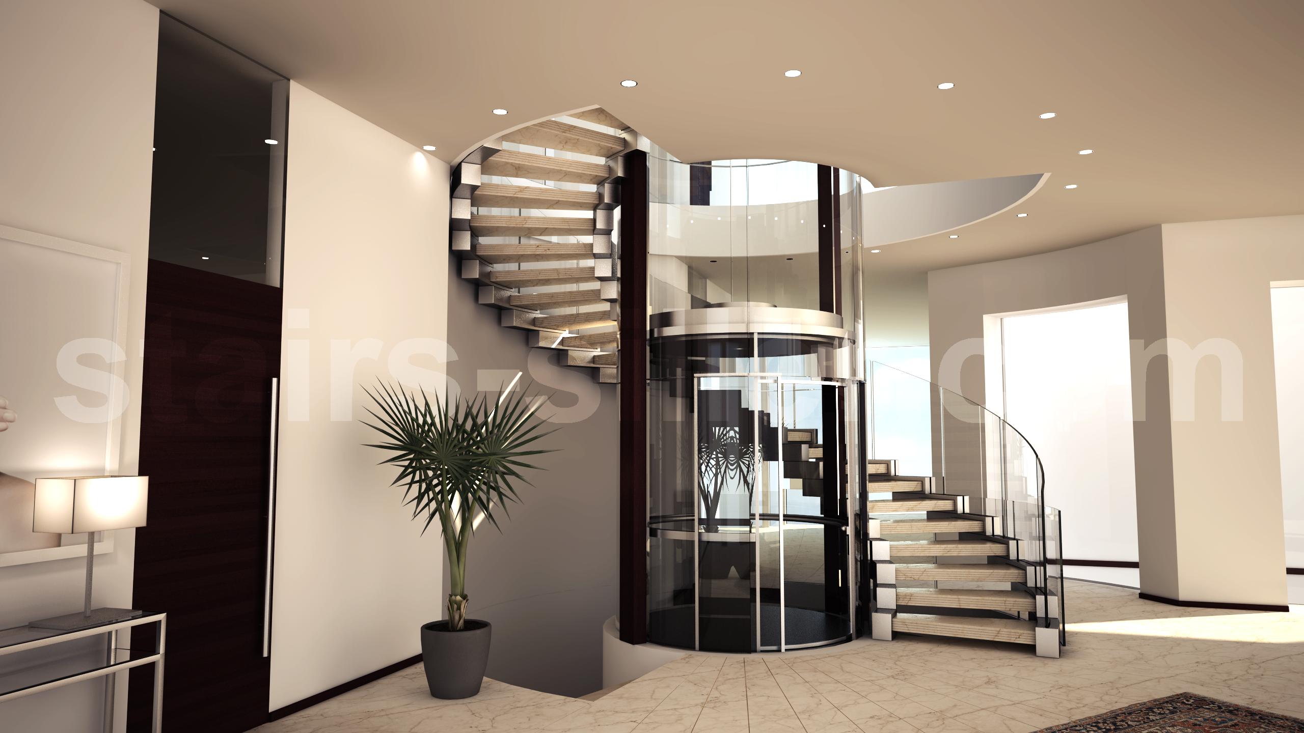Best Staircase Arround Elevator Cobra Design Http Www Stairs 400 x 300