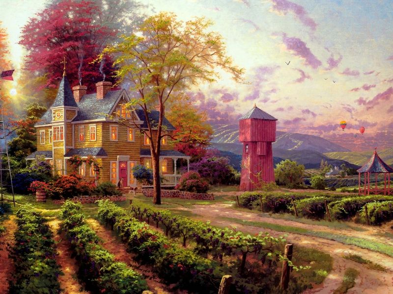 thomas kinkade painter of light | Thomas Kinkade - Painter of Light - The Contrast Magazine