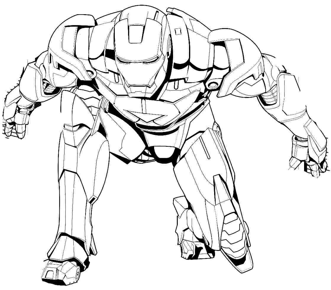 Iron Man Line Art Adult Super Hero Coloring Pages Superhero