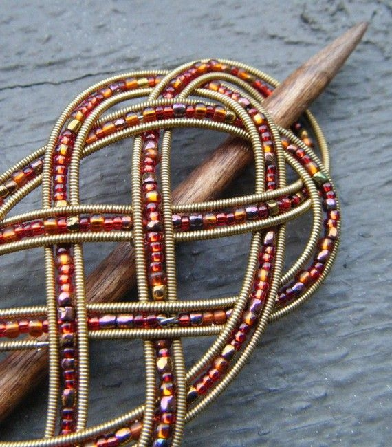 Upcycled Guitar Strings Make A Pretty Barrette.
