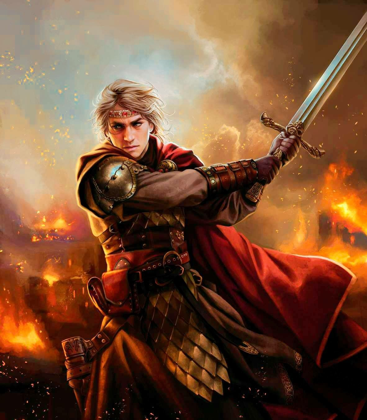 Warriors Fire And Ice Book: The God Aengus Mac Og In Battle With His Sword Morltach