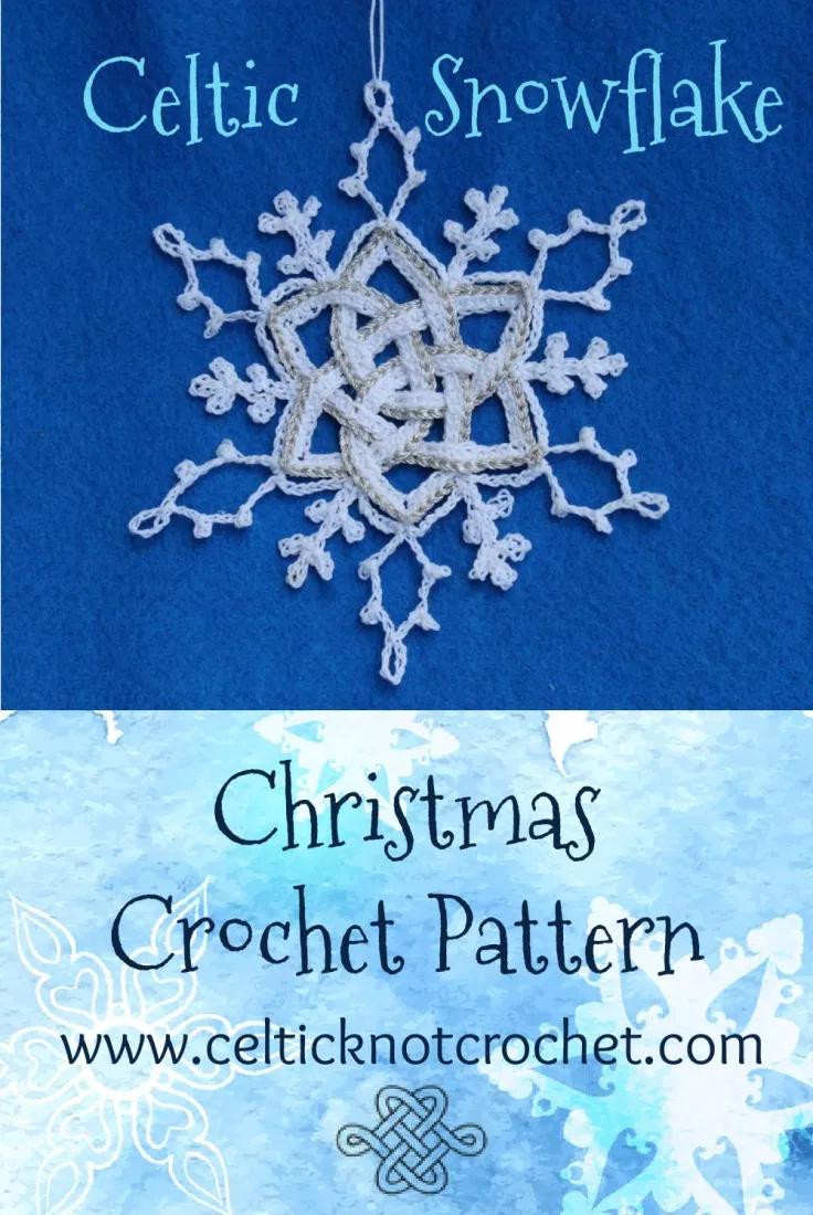 Snowflake Ornament Celtic Knot Crochet Crochet Ornaments Crochet Christmas Crochet Pattern
