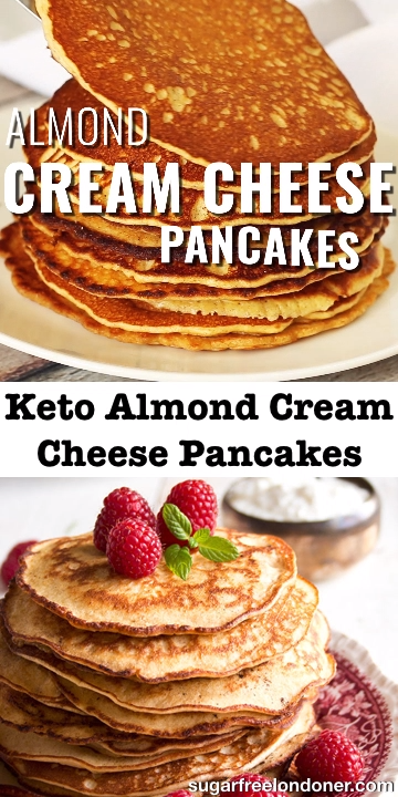 Keto Almond Cream Cheese Pancakes