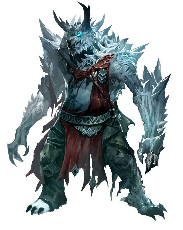 Blue Dragon Dd: Ice Character Concept