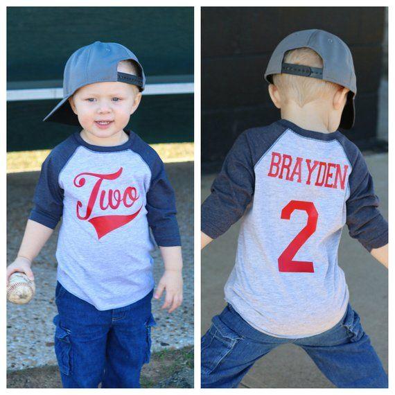 2nd Birthday Baseball Shirt Boys T Party Jersey