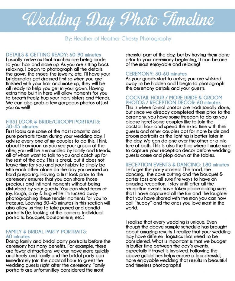 Sample wedding day timeline with first look Virginia Modern - sample budget timeline