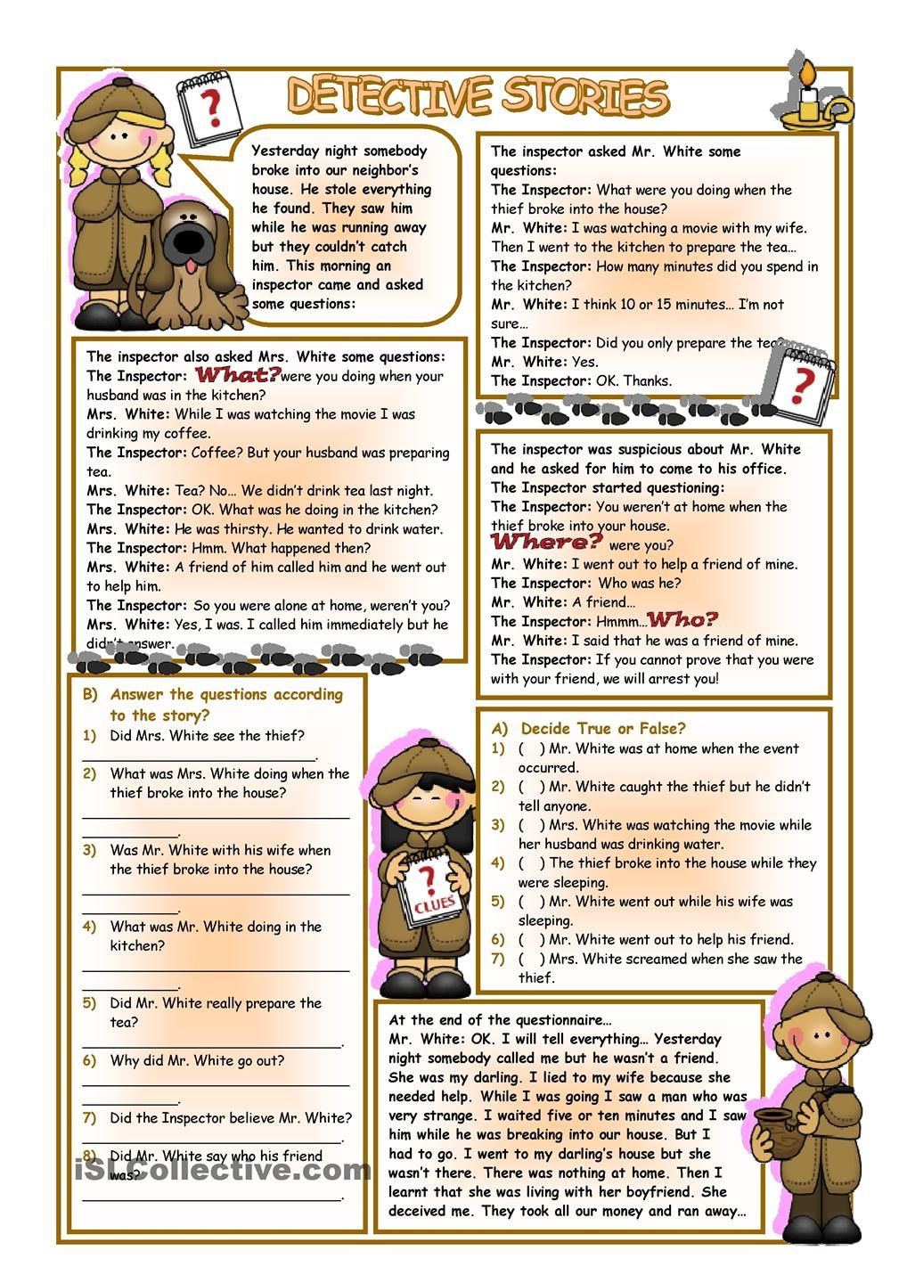- Detective Stories English Reading, Reading Comprehension