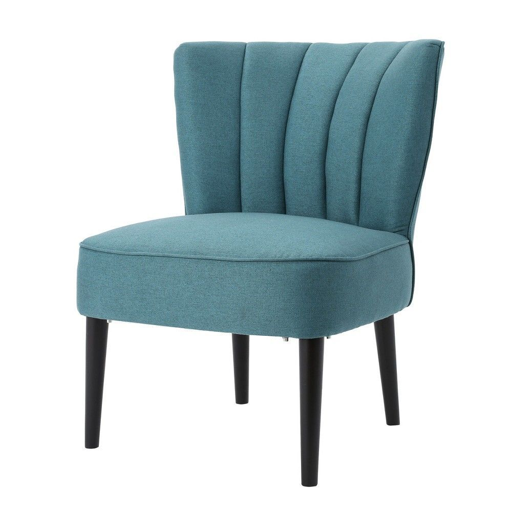 Erena Upholstered Accent Chair Dark Teal Christopher Knight