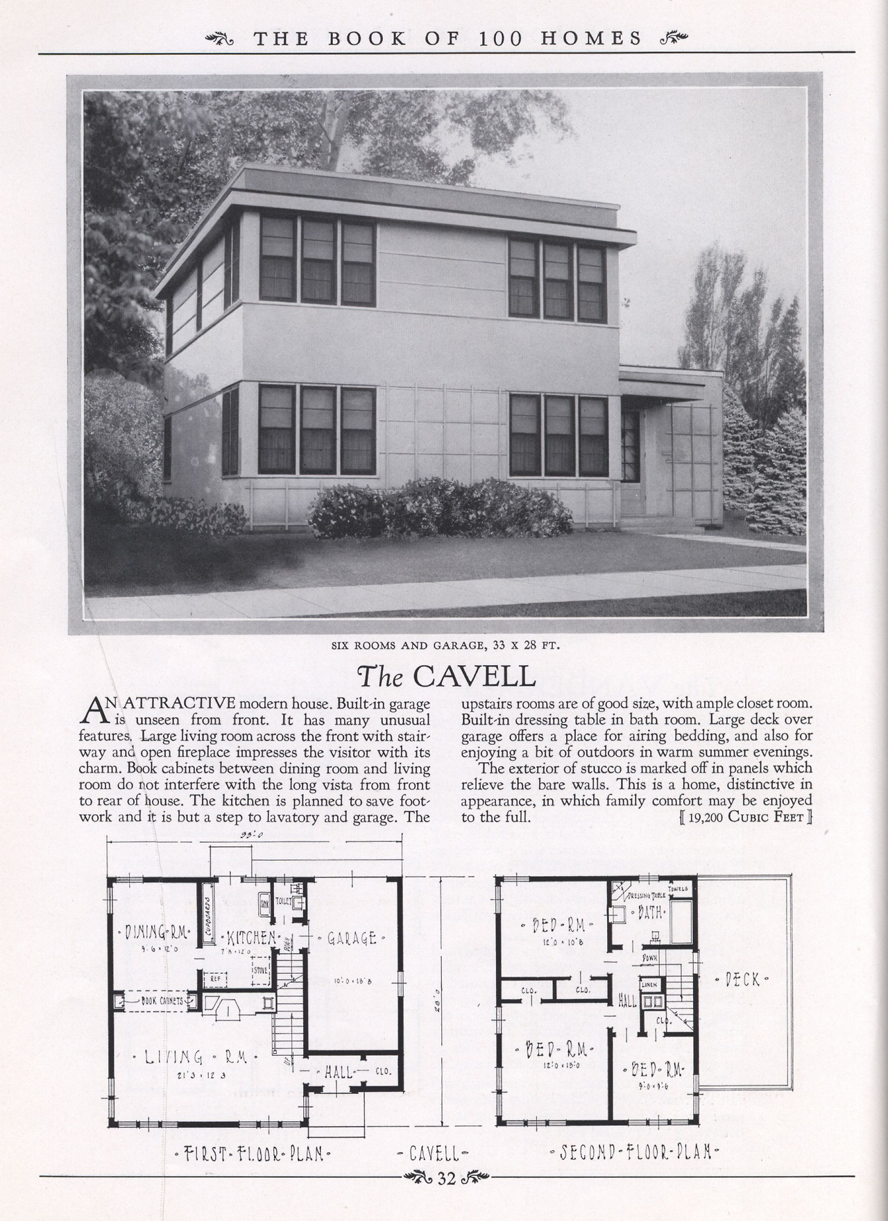 United States 1937 The Cavell This Modernized Version Of The Classic Foursquare Home Has Corner Windows And A Rea House Plans Vintage House Plans Roman House