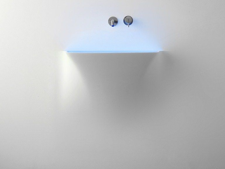 Waschbecken Corian the disappearing wash basin made of moulded corian interiors