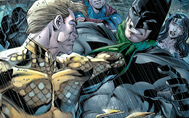 Comics Aquaman Batman Wonder Woman Superman Wallpaper