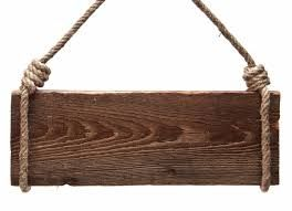 Cute Way To Hang A Sign Use Knotted Rope Diy Wood Signs Wood Diy Wooden Signs