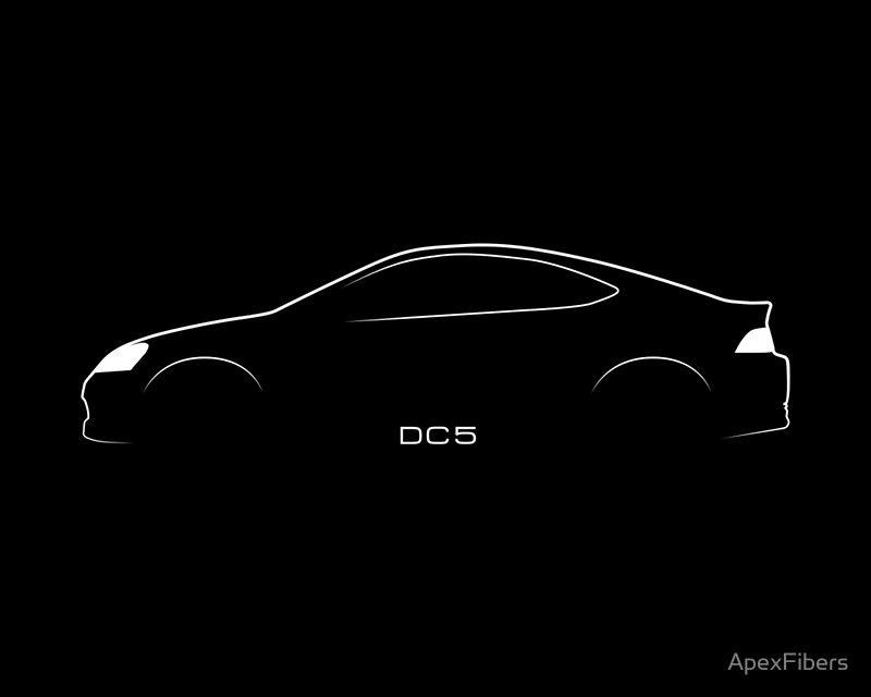 Dc5 Brustroke Design Poster By Apexfibers In 2020 Car