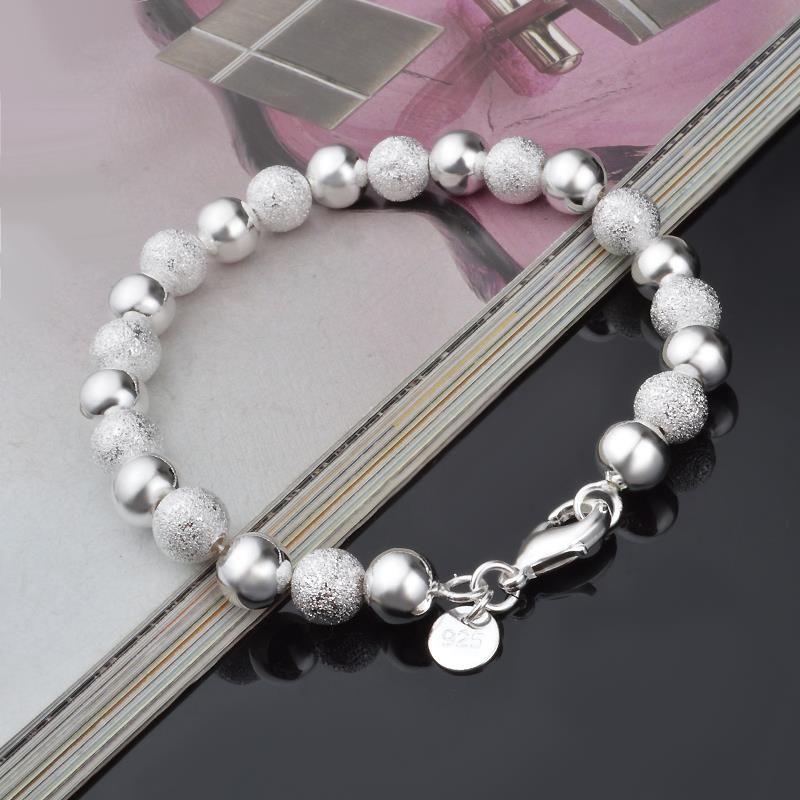 12dfce915195 Encontrar Más Cadenas y Pulseras de Dijes Información acerca de Plata 925  joyería Charm pulseras y
