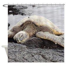 Honu Sea Turtle Shower Curtain for