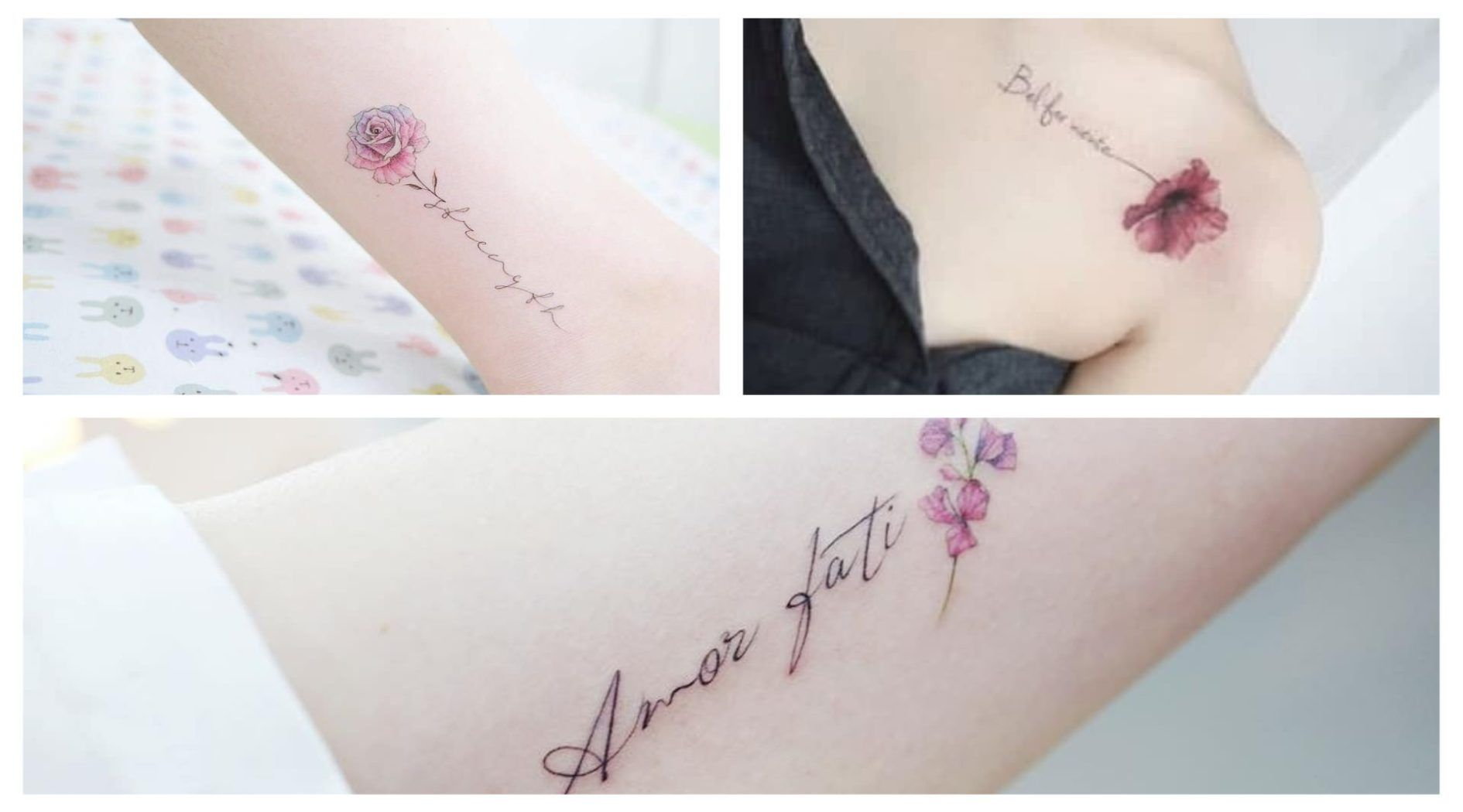 Super Femeninos Estos Tatuajes De Flores Con Letras Lotus Flower Tattoo Tattoos Flower Tattoo