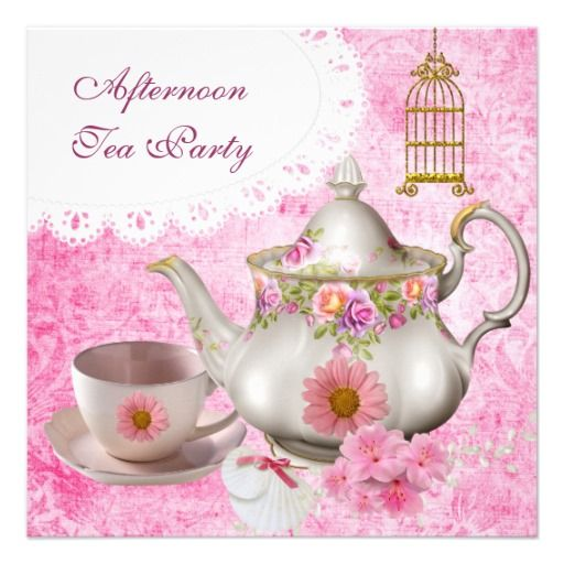 Tea Party Invitation  Tea Party    Tea Party
