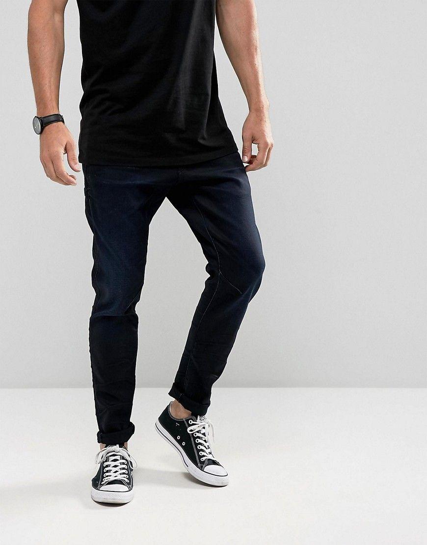 dcc4d01c4a6 G-Star D-Staq 3D Super Slim Jeans Dark Aged Wash - Black | Products ...