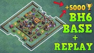 Best Builder Hall 6 Base 5000 Trophy W Proof Coc Bh6 Builder Base Design Clash Of Clans Clash Of Clans Clan Videos