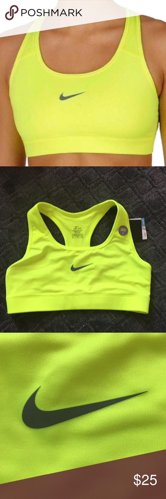 9b461d95c453c Nike Women s Medium Support Neon Yellow Sports Bra NWT Nike Intimates    Sleepwear Bras