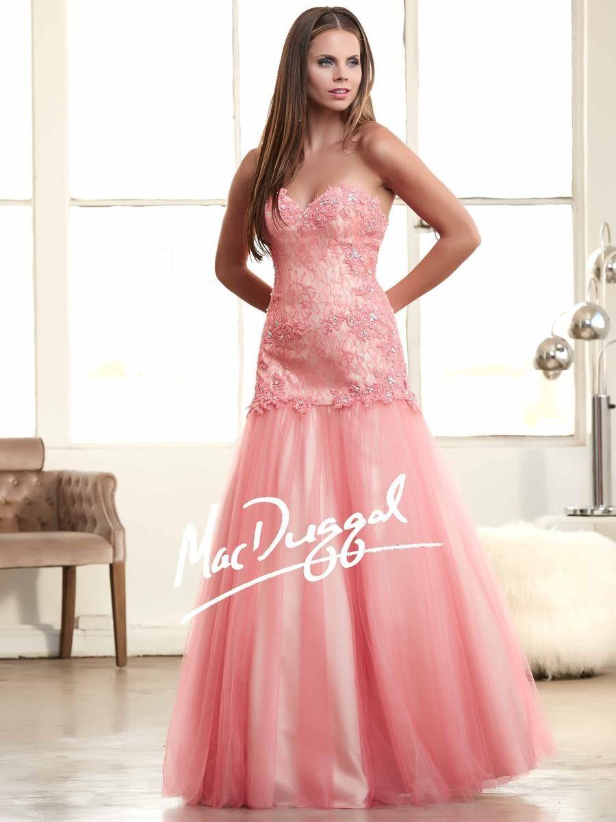 Mac Duggal 48198H Lace Mermaid Prom Dress Evening Gown $419 | Fiestas