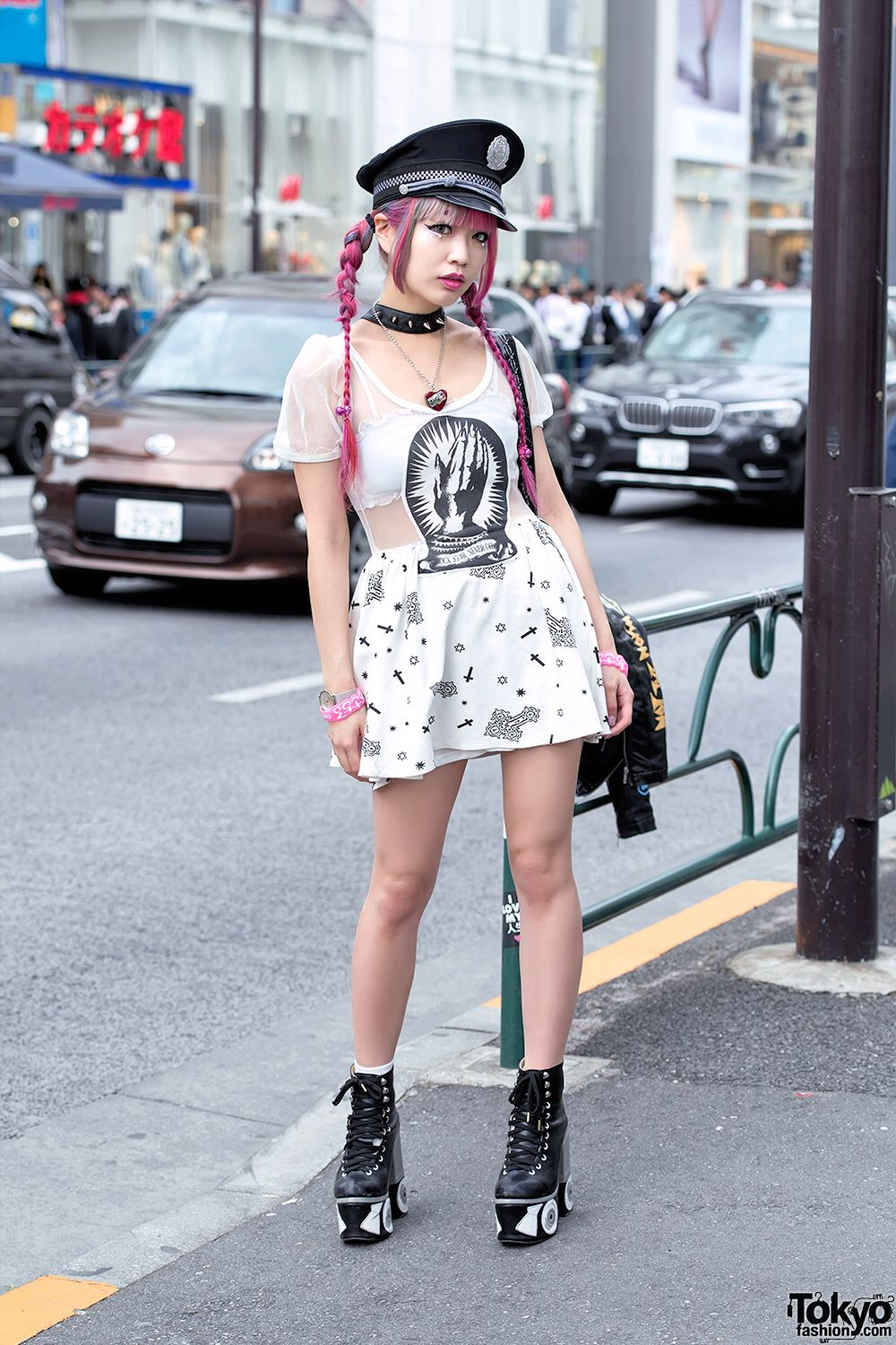 Harajuku Monster Girl Asachill On The Street Wearing A