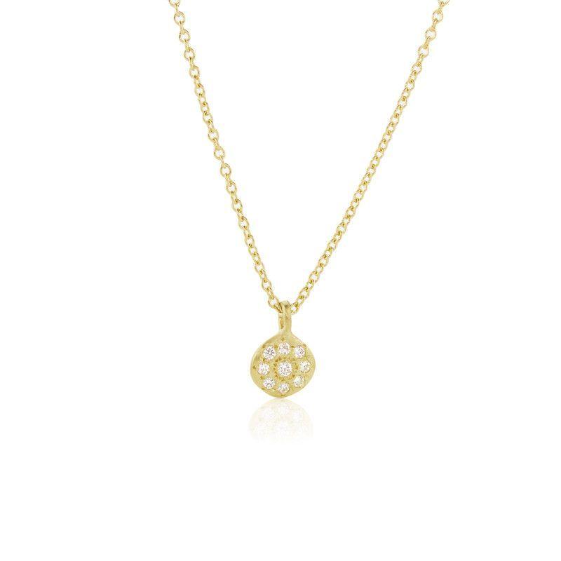 Adel Chefridi Diamond Floret Charm Necklace