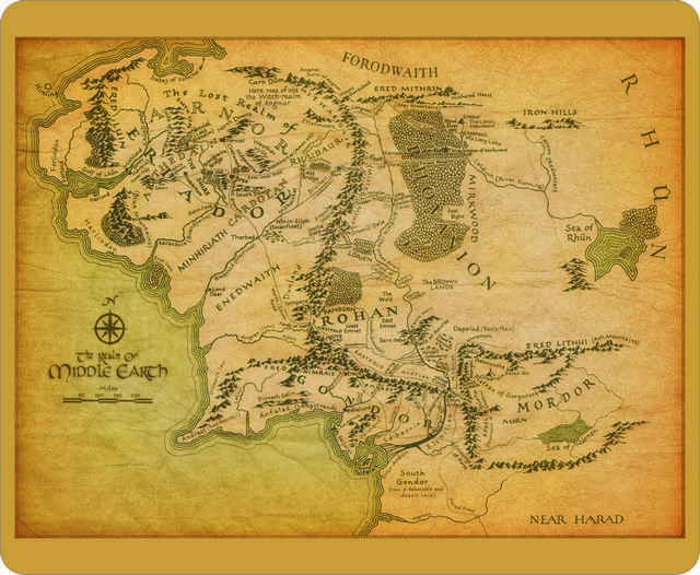 $4.49   Lotr Lord Of The Ring Middle Earth Map Comfort Mousepad