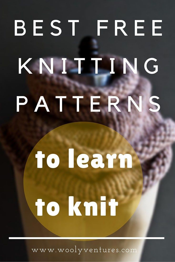 Best Free Knitting Patterns to Learn to Knit | Knitting patterns ...