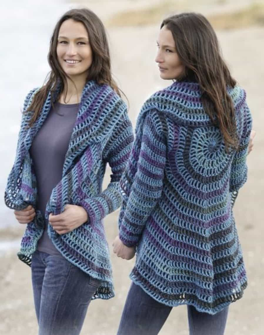 Circular Jacket Pattern Free Tutorial Crochet Patterns Crochet