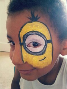 Imagem Relacionada Minion Face Paint Face Painting Easy Christmas Face Painting