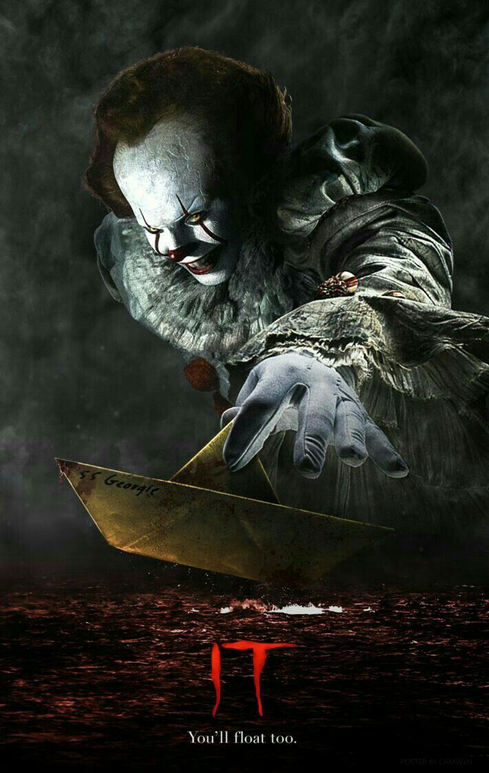 Horror Movie Posters UK Pennywise Stephen King/'s IT MOVIE POSTER A3