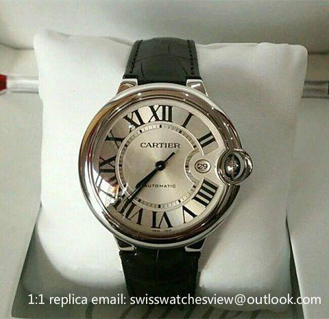 Cartier Ballon Bleu De Cartier Automatic Leather Watch W69016z4