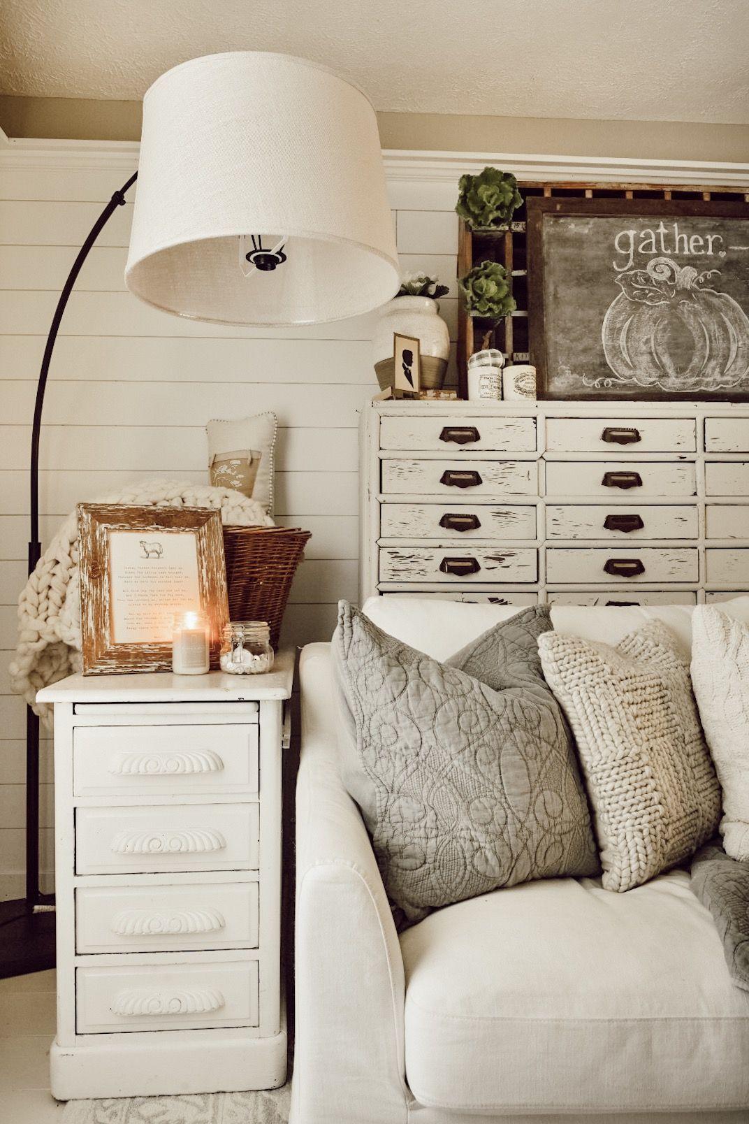 A Simple Cozy Fall Family Room Family Room Design Family Room Decor